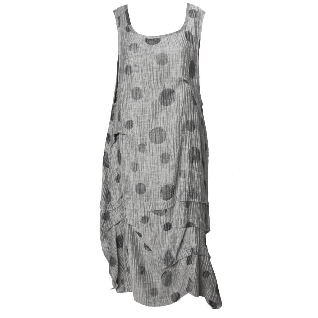 Dress To Kill Dress To Kill Multi Tuck Dress - Silver Dots