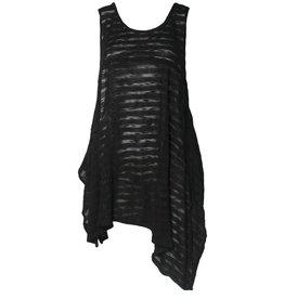 Dress To Kill Dress To Kill Flow Layering Tank - Black Sheer Stripe