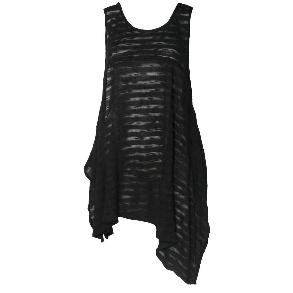Dress To Kill Dress To Kill Flow Layering Tank - Black Sheer Stripe
