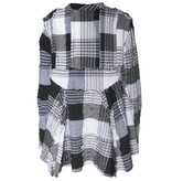 Dress To Kill Dress To Kill Exposed Seam Pull - Blk/Wht Crinkle Plaid