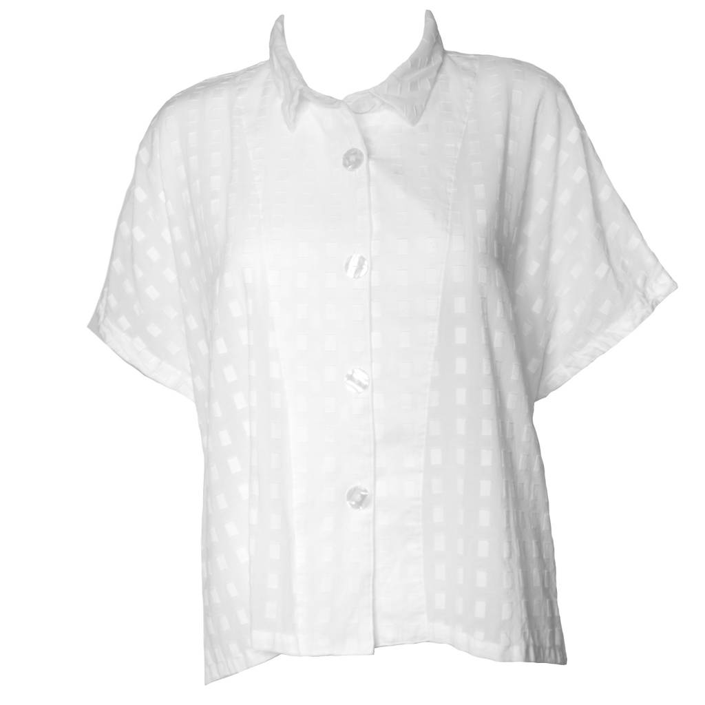 Dress To Kill Dress To Kill Cappy Shirt - White Embossed Squares