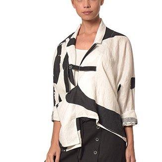 Crea Concept Crea Concept Cross Button Jacket - B/W