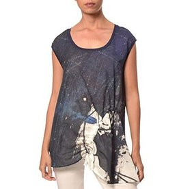 Crea Concept Crea Concept Sleeveless Print Tunic - Blue/White