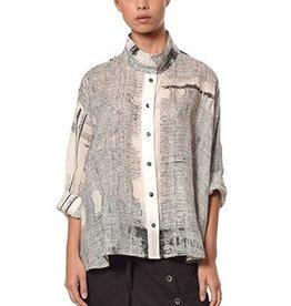 Crea Concept Crea Concept Long Sleeve Print Shirt - B/W