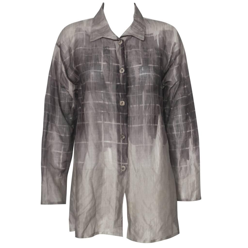 Xiaoyan Xiaoyan Sheer Shirt - Mauve Print