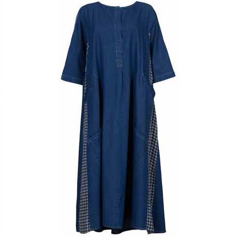 Alembika Alembika L/S Long Denim Dress - Blue