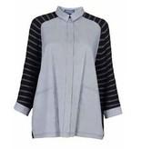 Alembika Alembika Short Sleeve Collared Shirt - Grey