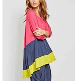 Alembika Alembika Color Block Cardy - Pink/Lime/Navy