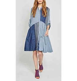 Alembika Alembika Patchwork Dress - Blue