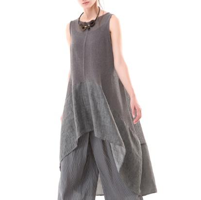 Colour 5 Power Colour 5 Power Sleeveless Sheath Dress - Grey