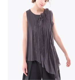 Colour 5 Power Colour 5 Power Sleeveless Asym Top - Grey
