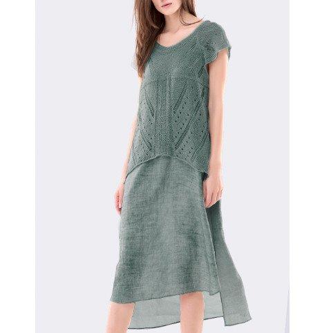 Colour 5 Power Colour 5 Power Cap Sleeve Long Sheath Dress - Green