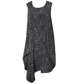 Dress To Kill Dress To Kill Folded Tunic - Blk/Grey Dots