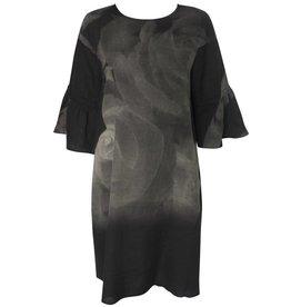 Yoshi Yoshi Yoshi Yoshi Linen Tunic - Black Print