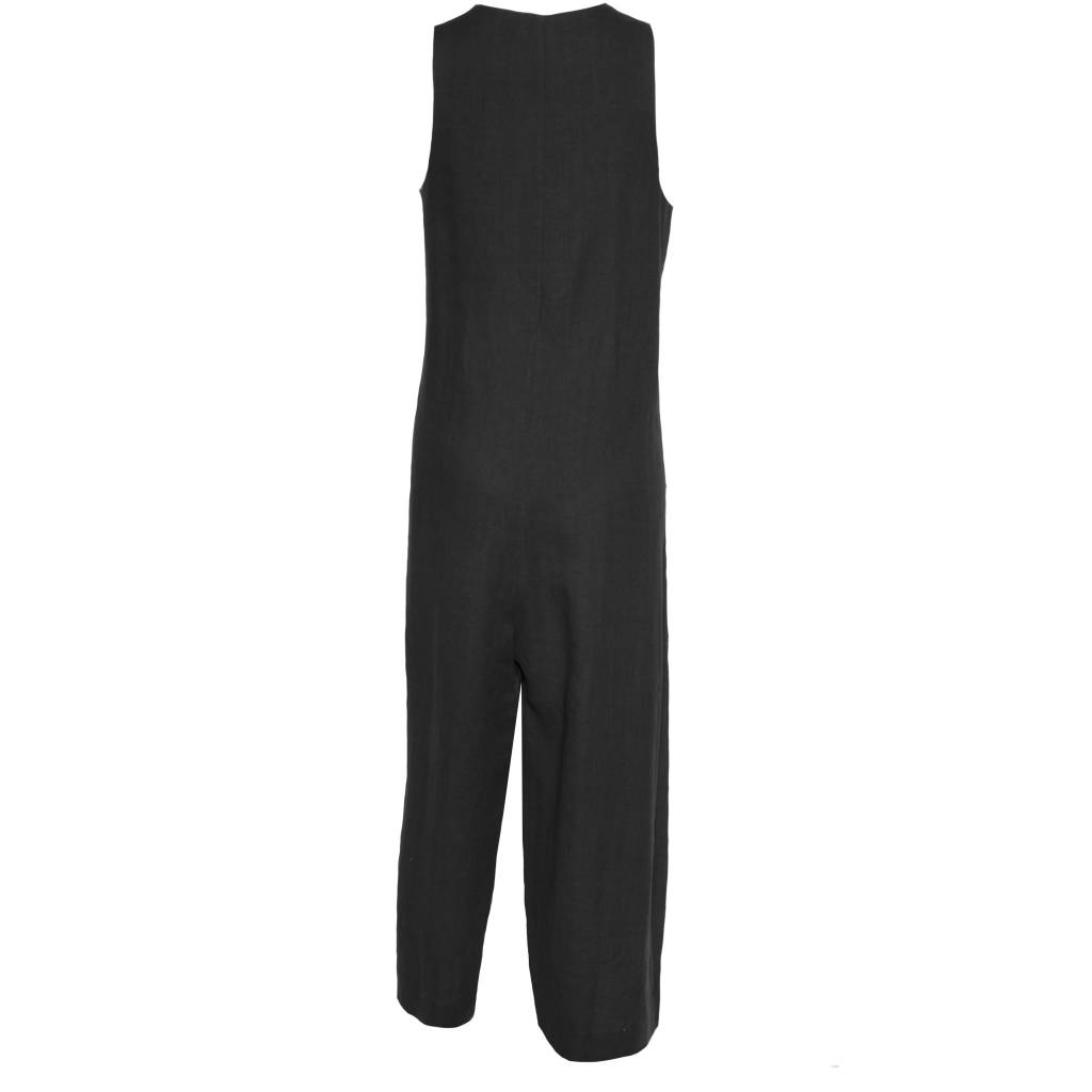 Crea Concept Crea Concept Sleeveless Pocket Jumpsuit - Black