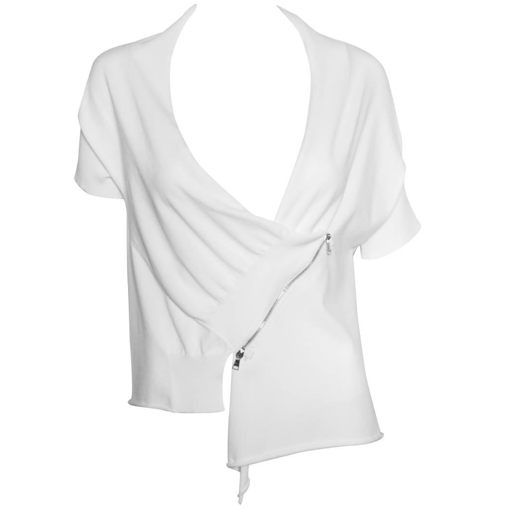 Crea Concept Crea Concept Crop Zip Cardy - White