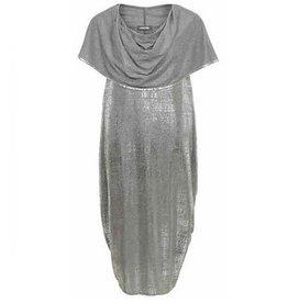 Alembika Alembika Drape Neck Dress - Silver