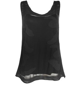 Ingrid Munt Ingrid Munt Sleeveless Overlay Top - Black