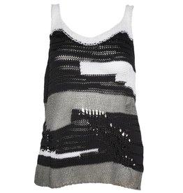 Crea Concept Crea Concept Knit Stripe Tank - Black/White
