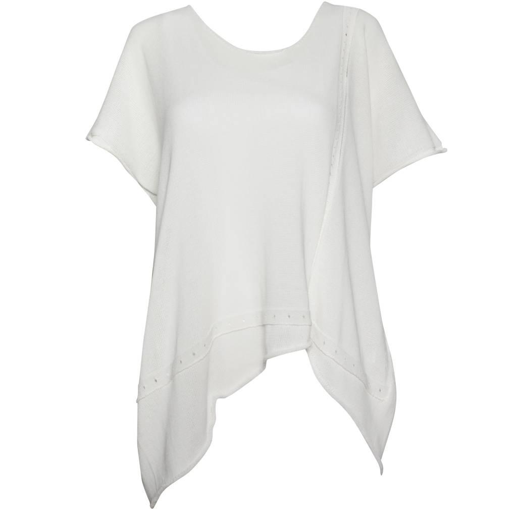 Crea Concept Crea Concept Knit Angle Knit Top - Bone
