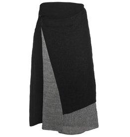 Crea Concept Crea Concept Angle Skirt - Black/Grey