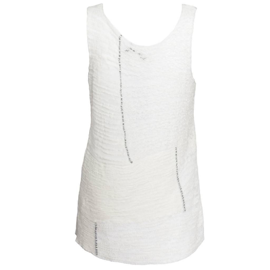 Crea Concept Crea Concept Knit Long Tank - Bone