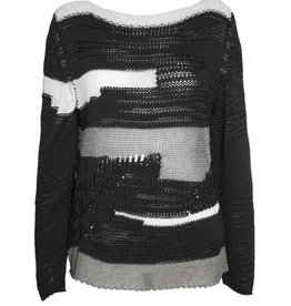 Crea Concept Crea Concept Static Sweater - Black/White/Grey