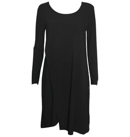 Crea Concept Crea Concept Long Sleeve Side Button Dress - Black