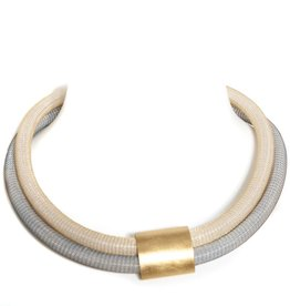 Petra Meiren Petra Meiren Double Collar Mesh Necklace