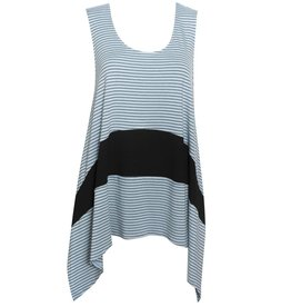 Fat Hat Fat Hat Trendy Overvest - Blue Stripe