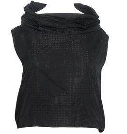 Sun Kim Sun Kim Wire Collar Crop Vest - Black Print
