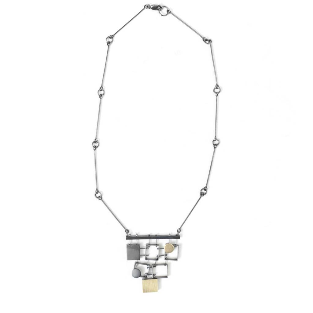 Ashka Dymel Ashka Dymel Stacked Rectangle Necklace