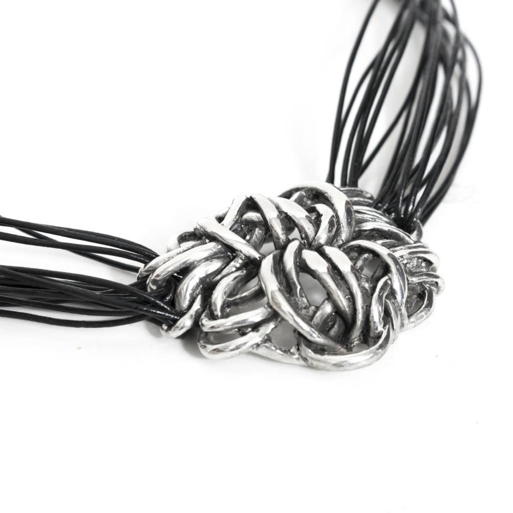 Fahrenheit Fahrenheit Multi Leather Strap with Pendant Necklace