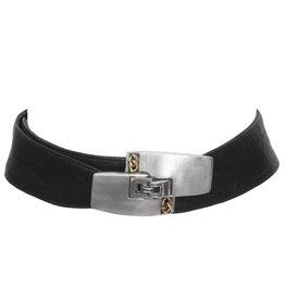 Fahrenheit Fahrenheit Wide Brushed Metal Belt