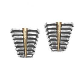Fahrenheit Fahrenheit Geometric Clip Earrings