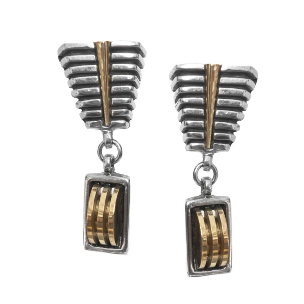 Fahrenheit Fahrenheit Drop Geometric Clip Earrings