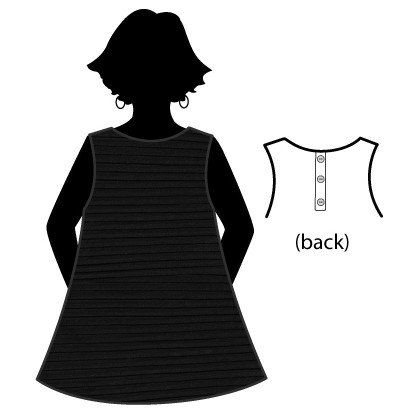 Fat Hat  Button Back Shell - Black
