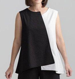 Fat Hat Geometry In Motion Top - Black/White