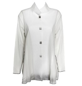 Deborah Cross Deborah Cross Mandarin Collar - White