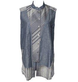 Redwood Court Color Block Vest - Gray Mixed