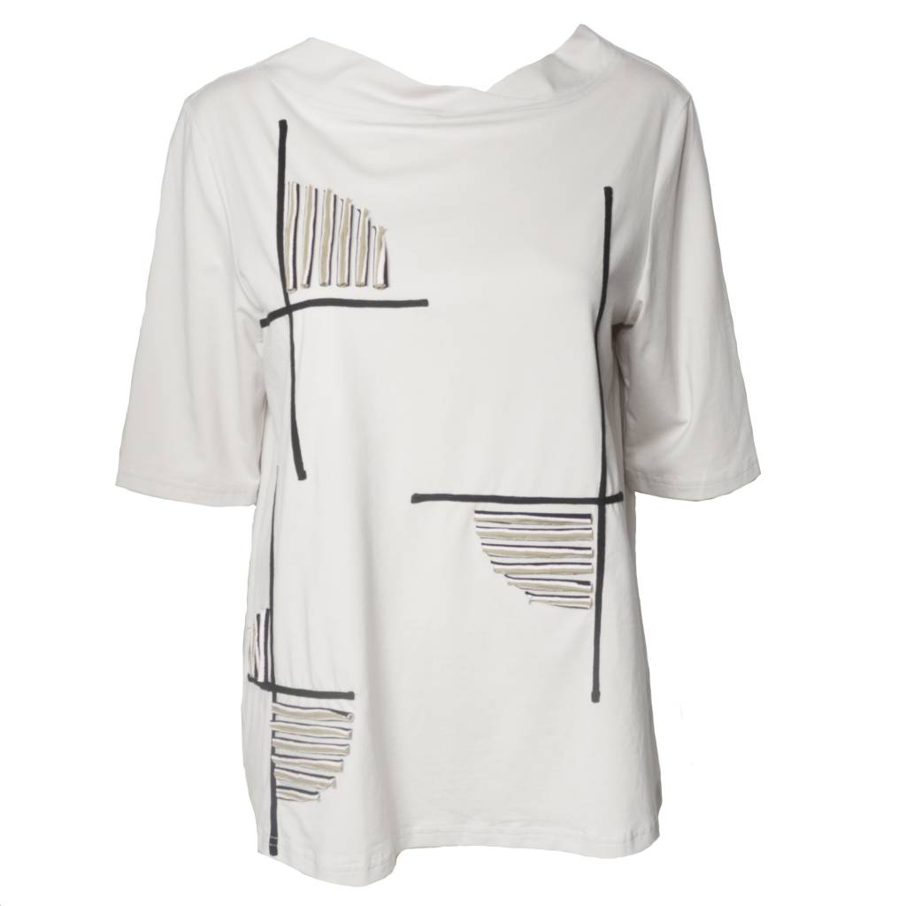 Redwood Court Redwood Court Striped Circle Tee