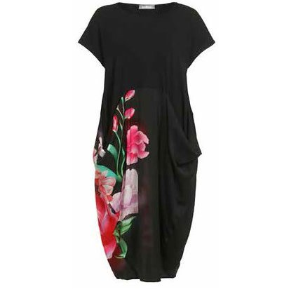 Alembika Alembika Satin Cotton Dress - Floral