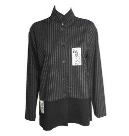 Xiaoyan Xiaoyan Black Pinstripe Jacket