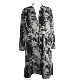 Xiaoyan Xiaoyan Black/Silver Brushstroke Coat