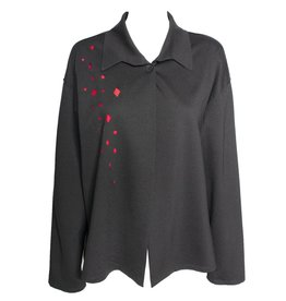 Xiaoyan Xiaoyan Black/Red Cutout Jacket