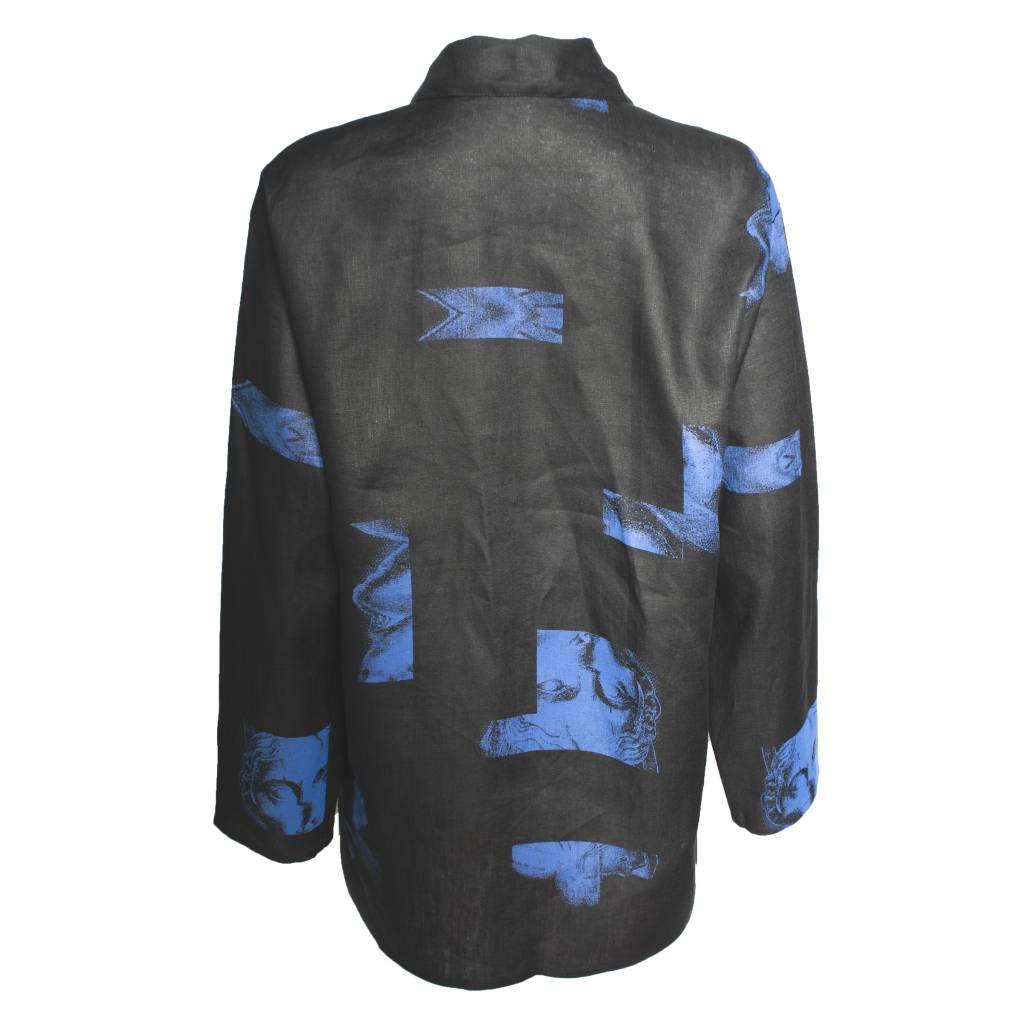 Xiaoyan Xiaoyan Midnight Black/Blue Linen Shirt