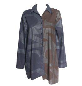 Xiaoyan Xiaoyan Navy/Maroon Letter Coat