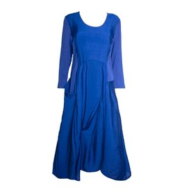 Redwood Court Redwood Court Cobalt Bamboo Silk Dress