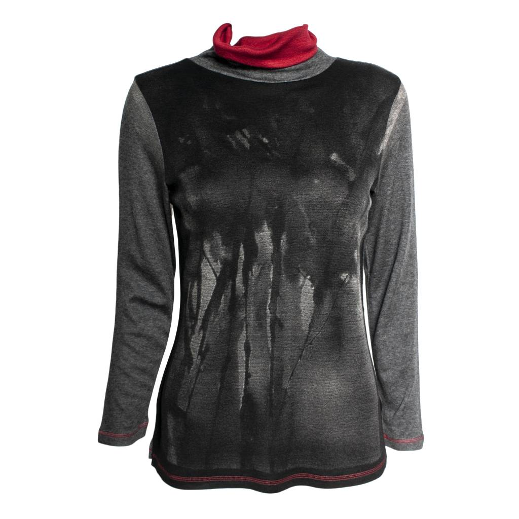 Yoshi Yoshi Yoshi Yoshi Black/Grey Watercolor Pullover