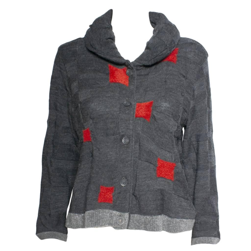 Yoshi Yoshi Yoshi Yoshi Grey/Red Cubed Jacket